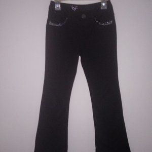 JUSTICE Girls (Size 8) Black Stretch Flare Pants